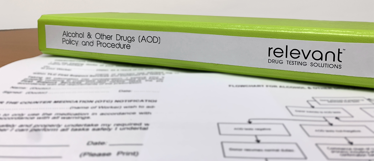 Relevant Drug Testing Solutions - Alcohol and Other Drugs Policy Procedure